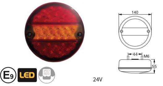 Kammer-Leuchte Rückleuchte Links p.f 83832016 40226112 Ersatzglas für 7